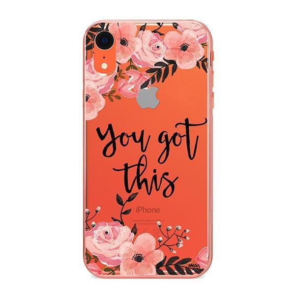 You Got This iPhone XR Case Clear
