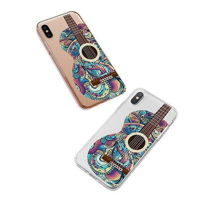 Henna Abstract Guitar iPhone XS Case Clear
