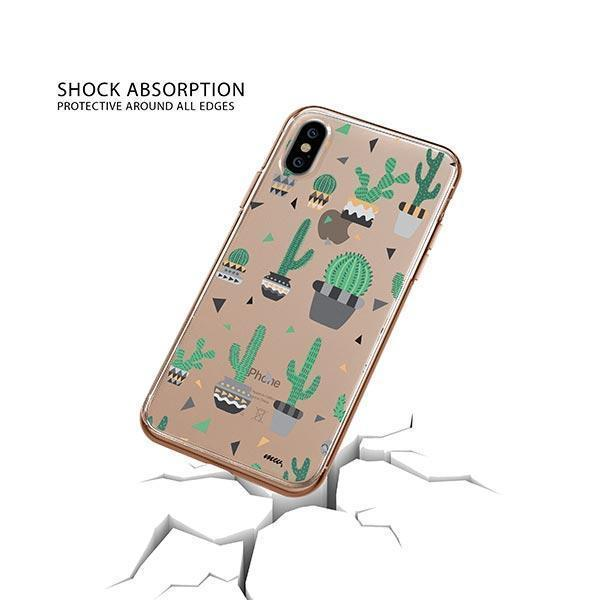 Cactus Party iPhone XS Case Clear