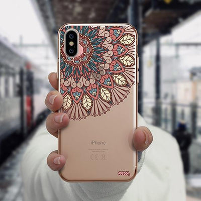 Henna Floral Mandala iPhone XS Case Clear