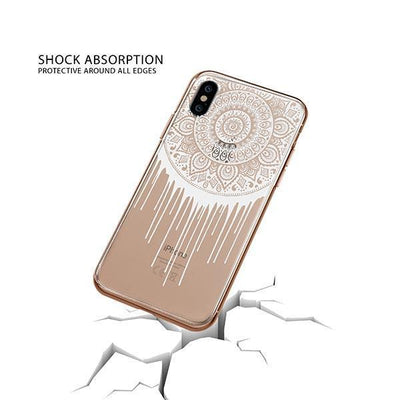 Henna Dripping Mandala Dreamcatcher iPhone XS Case Clear