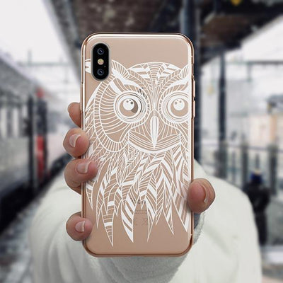 Henna Ethnic Owl iPhone XS Case Clear