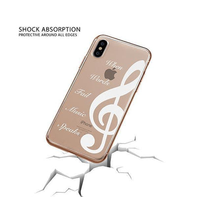 When Words Fail Music Speaks iPhone XS Case Clear