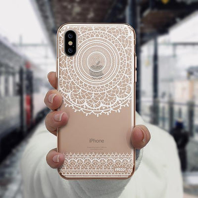 Mandala Sun Lace iPhone XS Case Clear