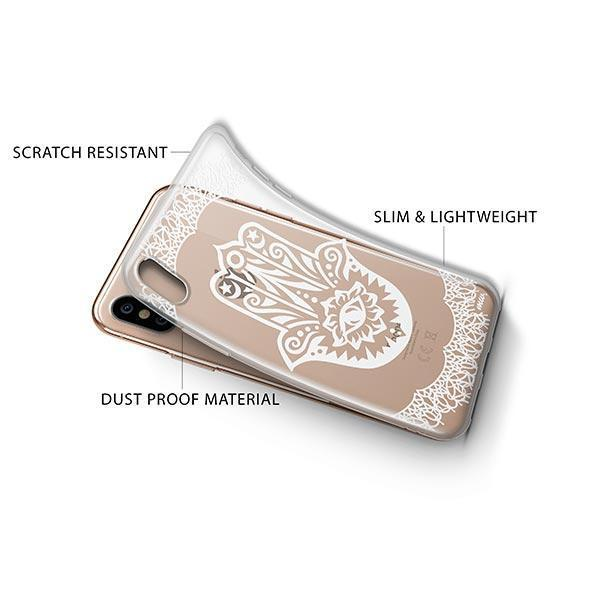 Henna Hamsa Hand of Fatima iPhone XS Case Clear
