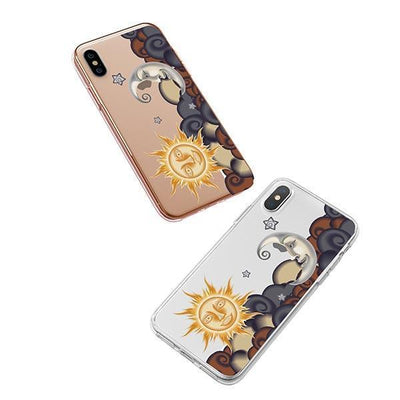 Henna Sun and Moon iPhone XS Case Clear