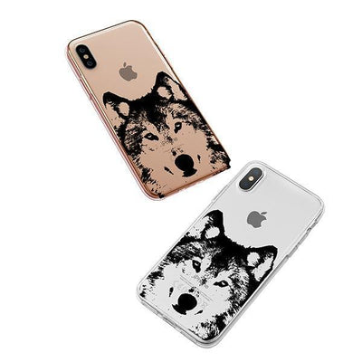 Henna Wolf - iPhone XS Case Clear