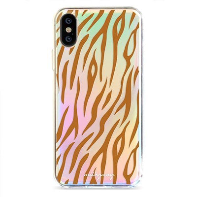 Tiger Print - Holographic iPhone Case