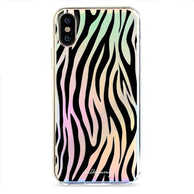 Zebra Print - Holographic iPhone Case