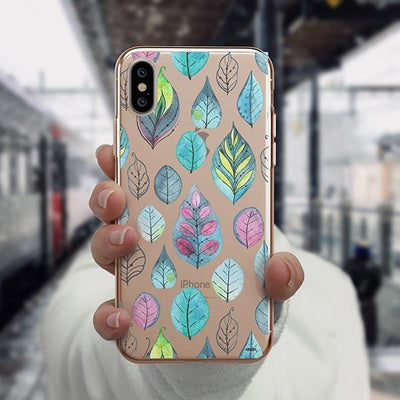 Leaves iPhone XS Case Clear