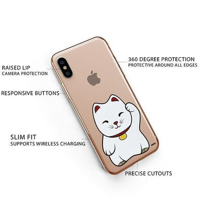 Lucky Cat - iPhone XS Clear Case
