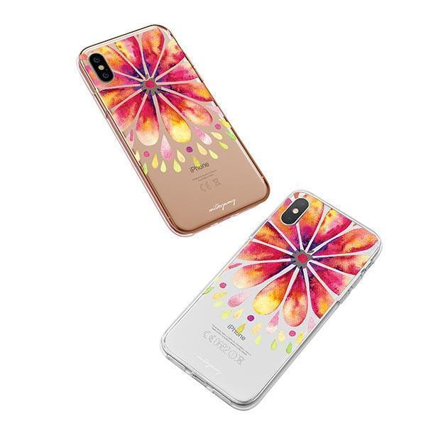 Mandala Drops iPhone XS Case Clear