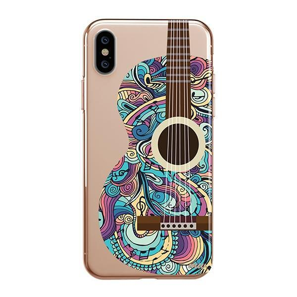 Henna Abstract Guitar iPhone XS Max Case Clear