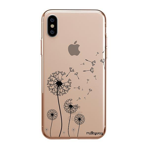 iphone xs max clear flower case