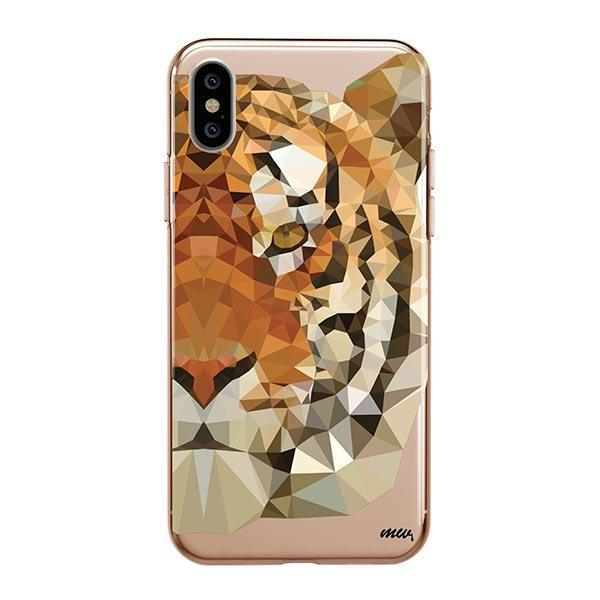 ba582991f9c43 Geometric Tiger - iPhone XS Max Case Clear - Milkyway