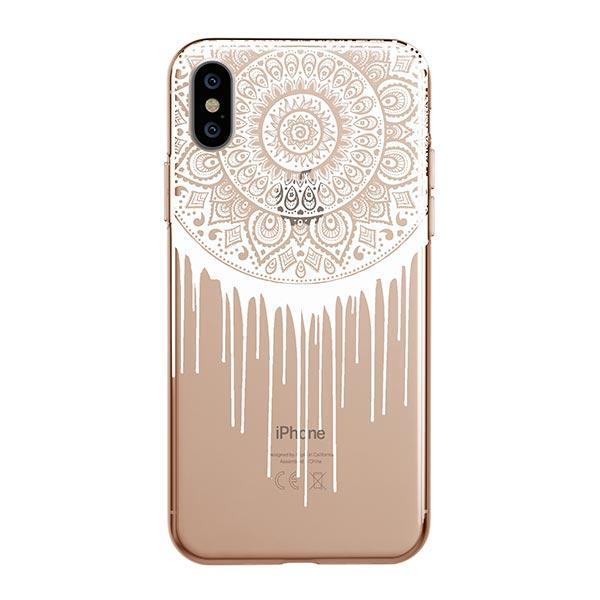 Henna Dripping Mandala Dreamcatcher iPhone XS Max Case Clear