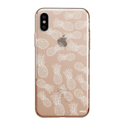 Henna White Pineapple - iPhone Clear Case