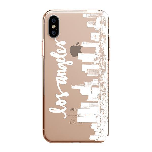 LA Skyline iPhone XS Max Case Clear