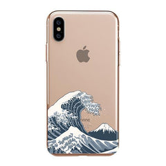 Japanese Wave iPhone XS Max Case Clear