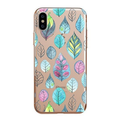 Leaves Clear TPU Case - Clear Cut Silicone iPhone Cover - Milkyway Cases