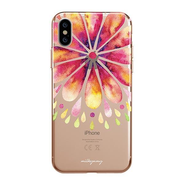 Mandala Drops iPhone XS Max Case Clear