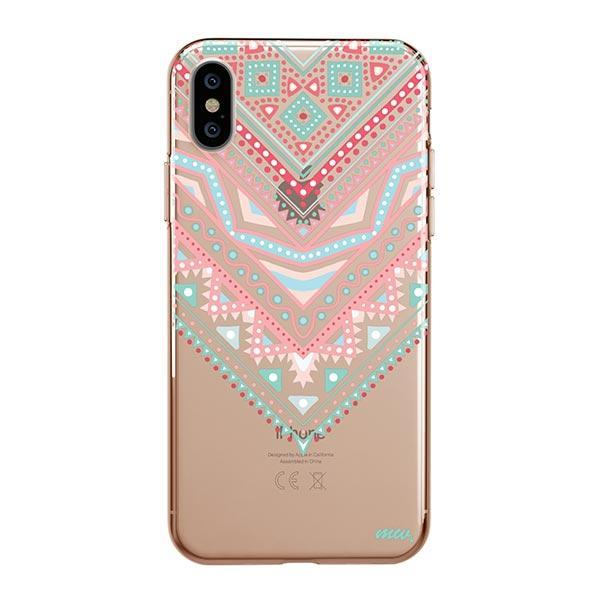 Pastel Aztec Triangle iPhone XS Max Case Clear