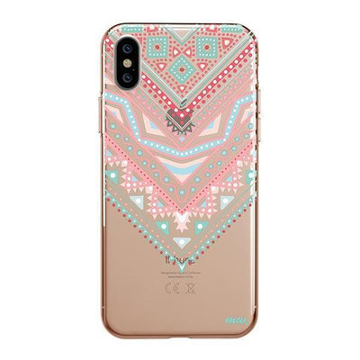 Pastel Aztec Triangle Clear TPU Case - Clear Cut Silicone iPhone Cover - Milkyway Cases