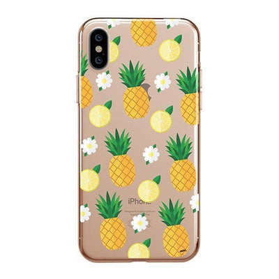 Pineapple Lemon Summer Clear TPU Case - Clear Cut Silicone iPhone Cover - Milkyway Cases