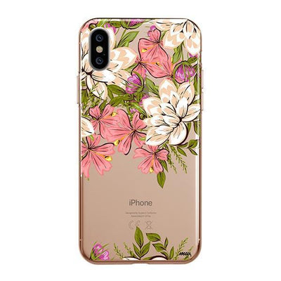 Angela Floral Clear TPU Case - Clear Cut Silicone iPhone Cover - Milkyway Cases