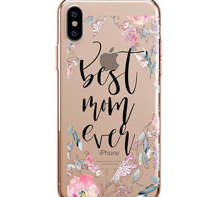 Best Mom Ever Floral - iPhone Clear Case