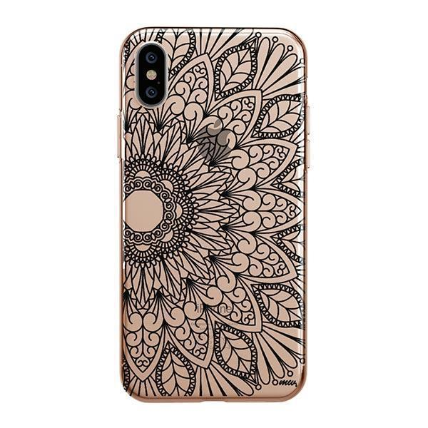 Black Mandala iPhone XS Max Case Clear