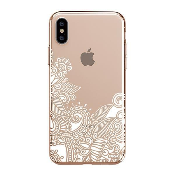 Hennan Bottom Floral Paisley iPhone XS Max Case Clear