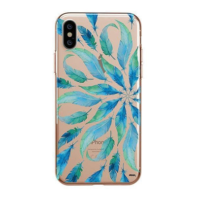 Burst of Feathers Clear TPU Case - Clear Cut Silicone iPhone Cover - Milkyway Cases