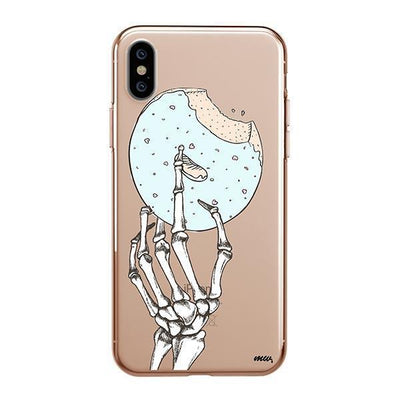 Crane Donut Clear TPU Case - Clear Cut Silicone iPhone Cover - Milkyway Cases