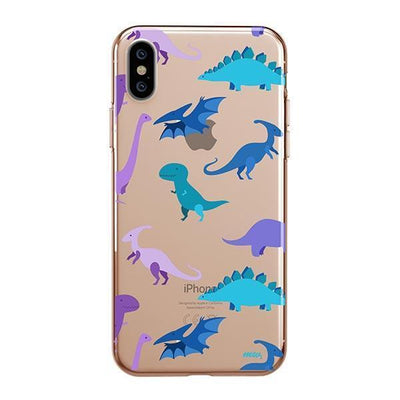 Dino Time Clear TPU Case - Clear Cut Silicone iPhone Cover - Milkyway Cases