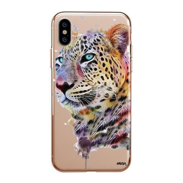 Dripping Leopard - iPhone XS Max Case Clear