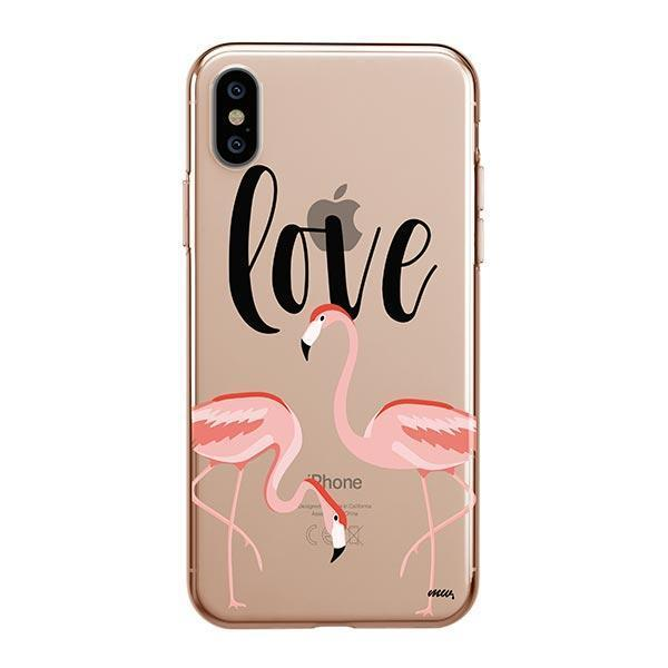 Flaming Love iPhone XS Max Case Clear