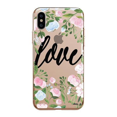 Floral Love Clear TPU Case - Clear Cut Silicone iPhone Cover - Milkyway Cases