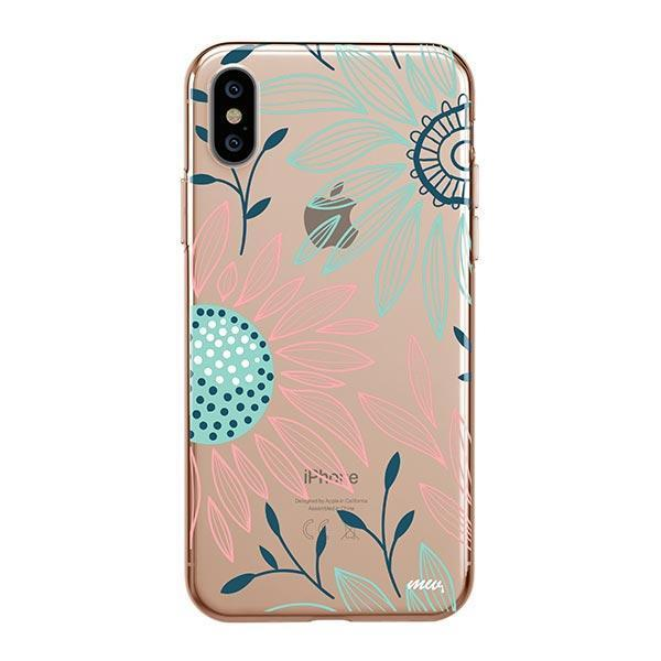 Floral Patch iPhone XS Max Case Clear
