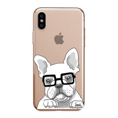 The Frenchie Clear TPU Case - Clear Cut Silicone iPhone Cover - Milkyway Cases