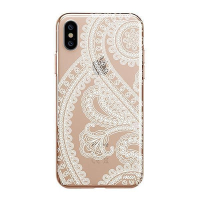 Henna Full Paisley Clear TPU Case - Clear Cut Silicone iPhone Cover - Milkyway Cases
