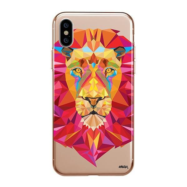 Geometric Lion - iPhone XS Max Case Clear