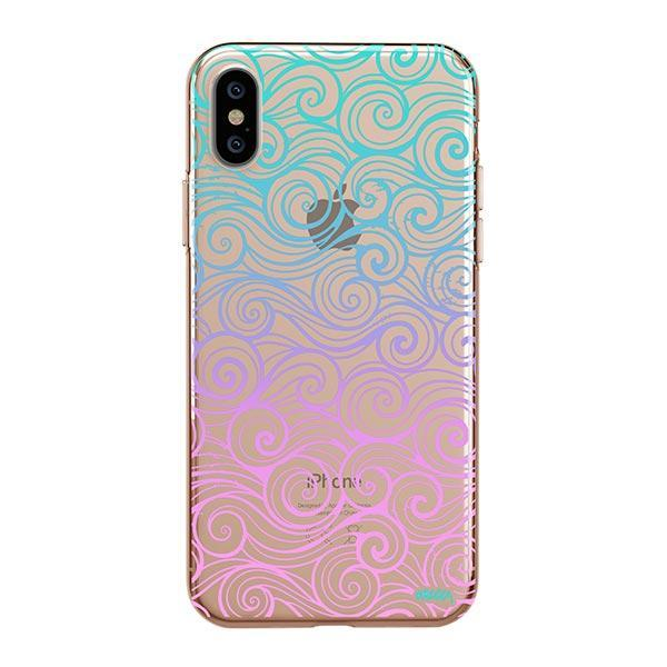 Gradient Wave iPhone XS Max Case Clear