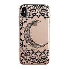 Crescent Moon Henna iPhone XS Max Case Clear