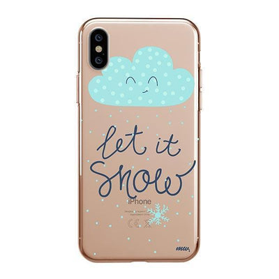 Let It Snow Clear TPU Case - Clear Cut Silicone iPhone Cover - Milkyway Cases