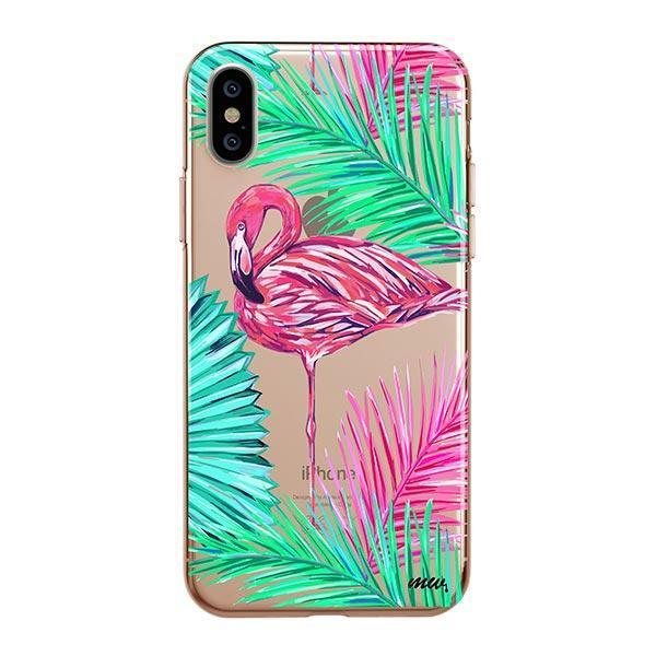 Neon Flamingo - iPhone XS Max Case Clear