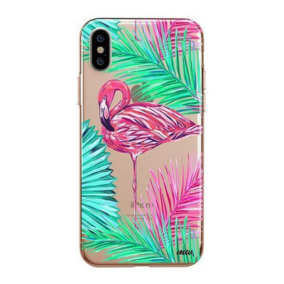 Neon Flamingo Clear TPU Case - Clear Cut Silicone iPhone Cover - Milkyway Cases