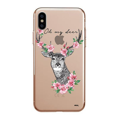 Oh My Deer Clear TPU Case - Clear Cut Silicone iPhone Cover - Milkyway Cases