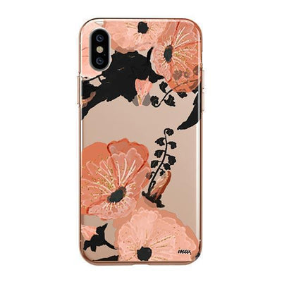 Peachy Floral Clear TPU Case - Clear Cut Silicone iPhone Cover - Milkyway Cases