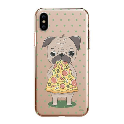 Pizza Pug - iPhone Clear Case